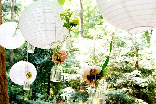 Bloemen en lampions klein